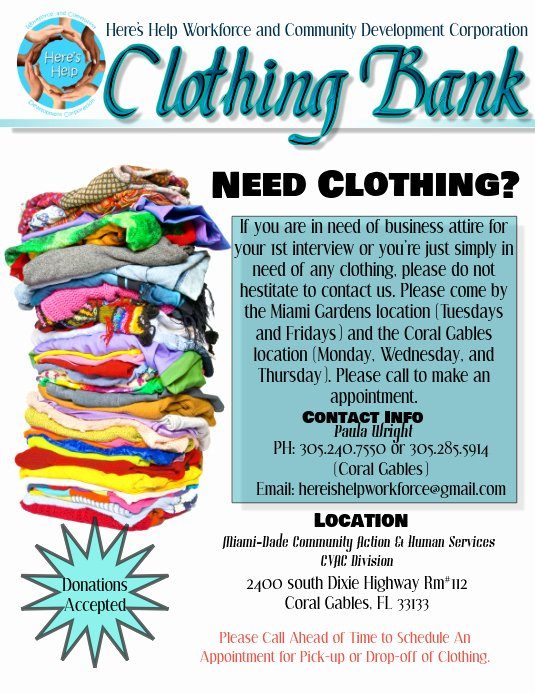 Clothing Drive Flyer Template Inspirational Clothing Bank Flyer Template