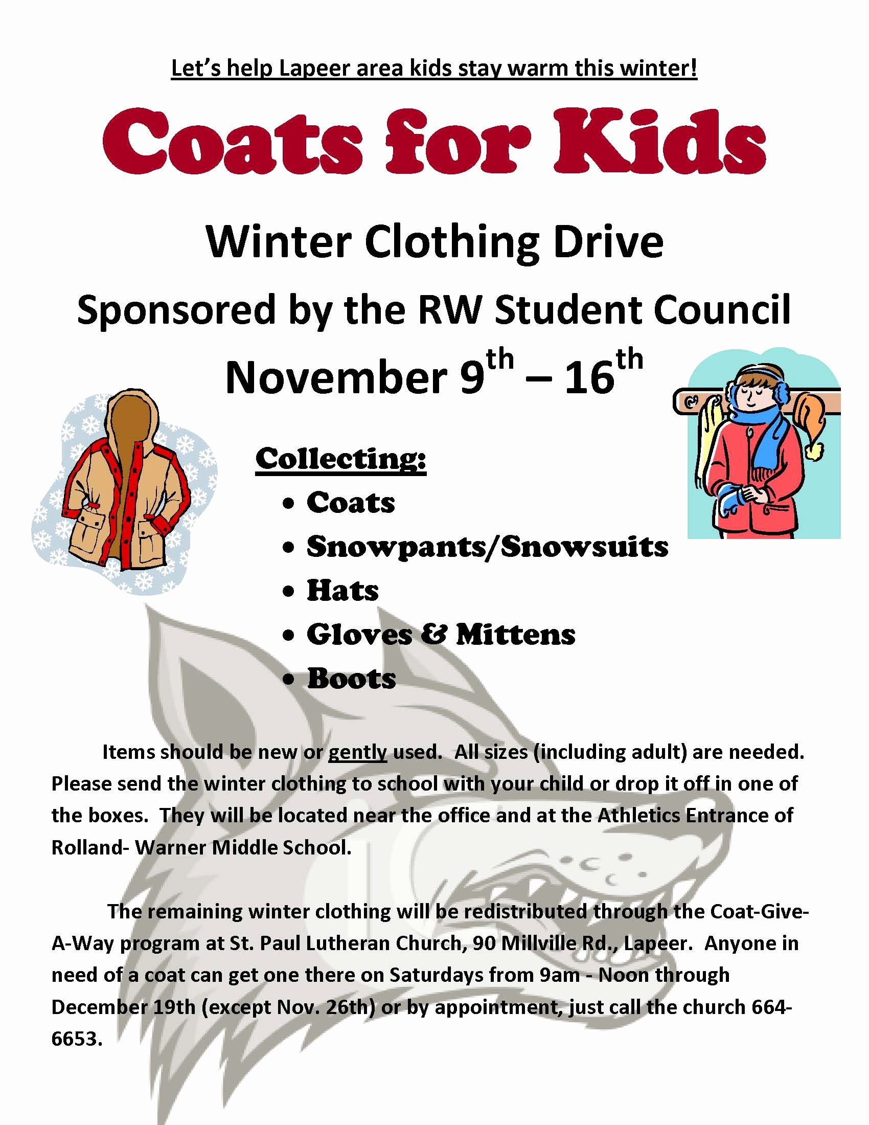 Clothing Drive Flyer Template Inspirational Coats for Kids Winter Clothing Drive Ing November 9 16