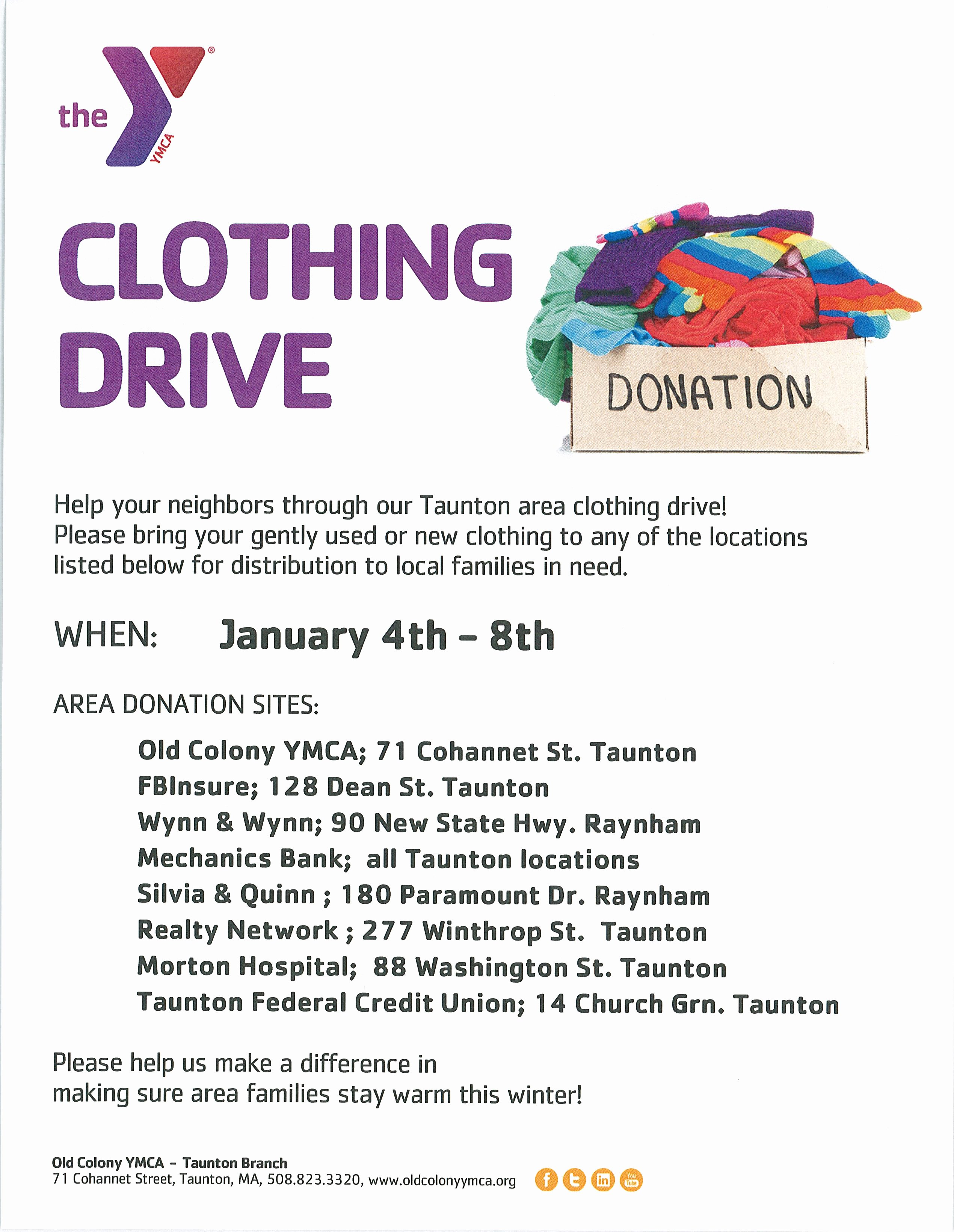Clothing Drive Flyer Template New Tfcu Partners with Ymca for Clothing Drive