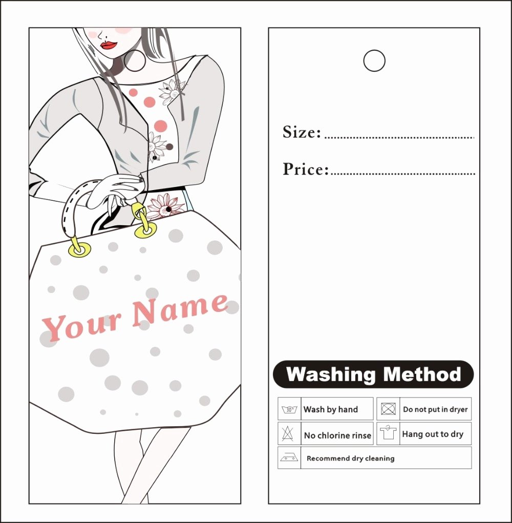 Clothing Hang Tag Template Awesome Aliexpress Buy Custom Print Hang Tags Price Label