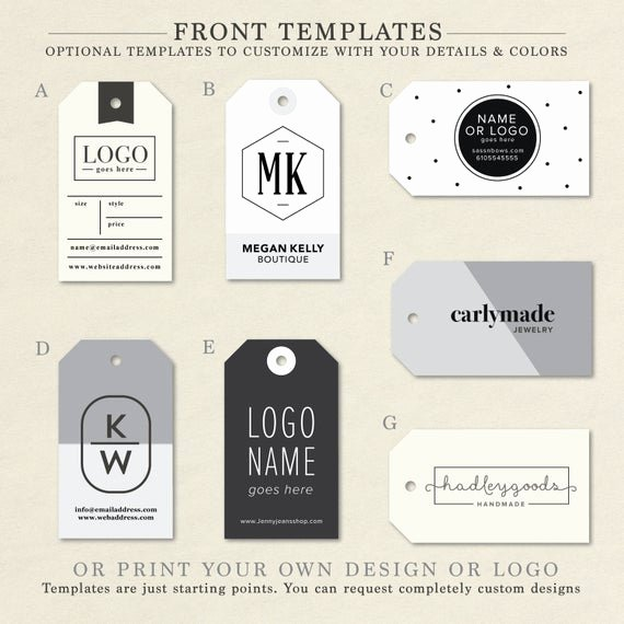 Clothing Hang Tag Template Beautiful Custom Clothing Labels Clothing Tags Hang Tag Custom