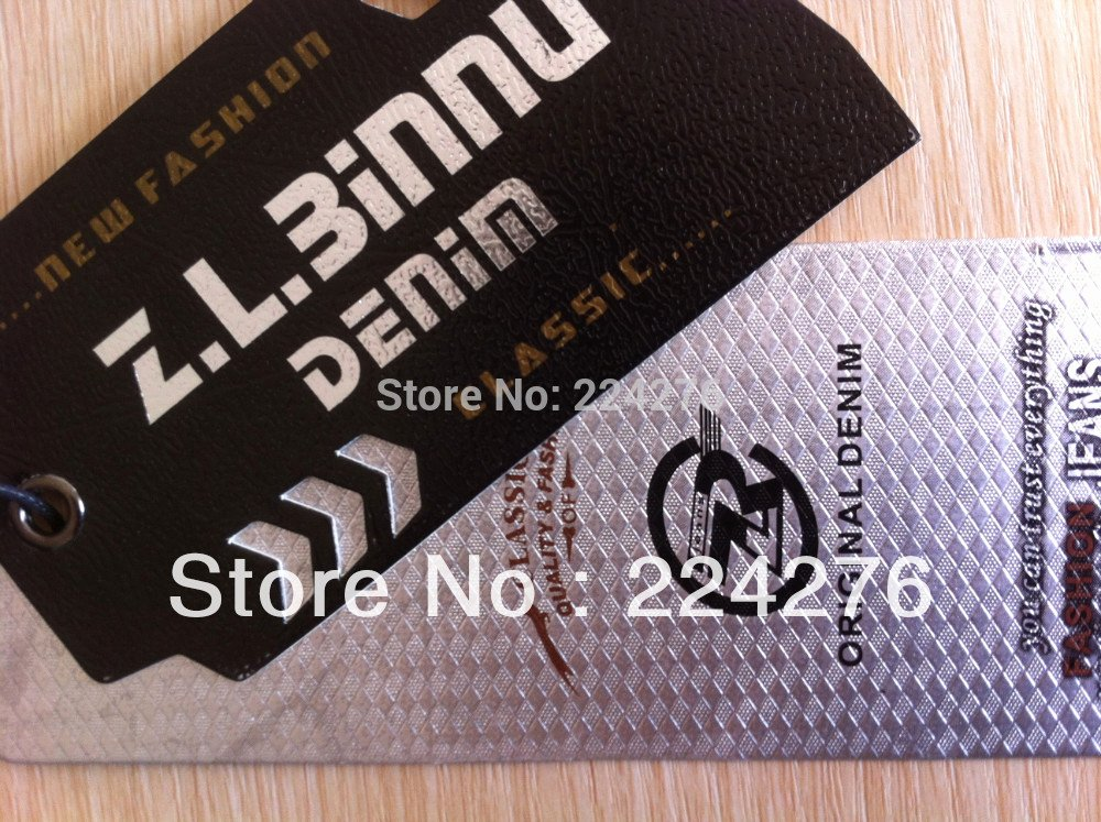 Clothing Hang Tag Template Luxury Moq 200pcs Oem Swing Tag for Clothing Full Color Printing
