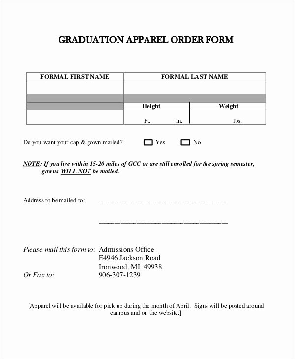Clothing order form Template Unique 12 Apparel order forms Free Sample Example format