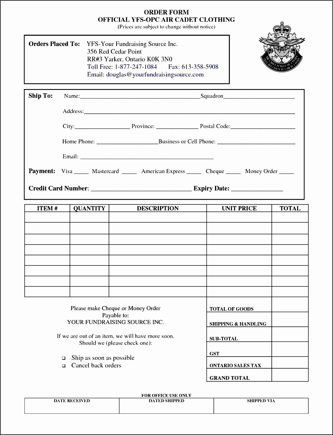free sample order form maker okkch