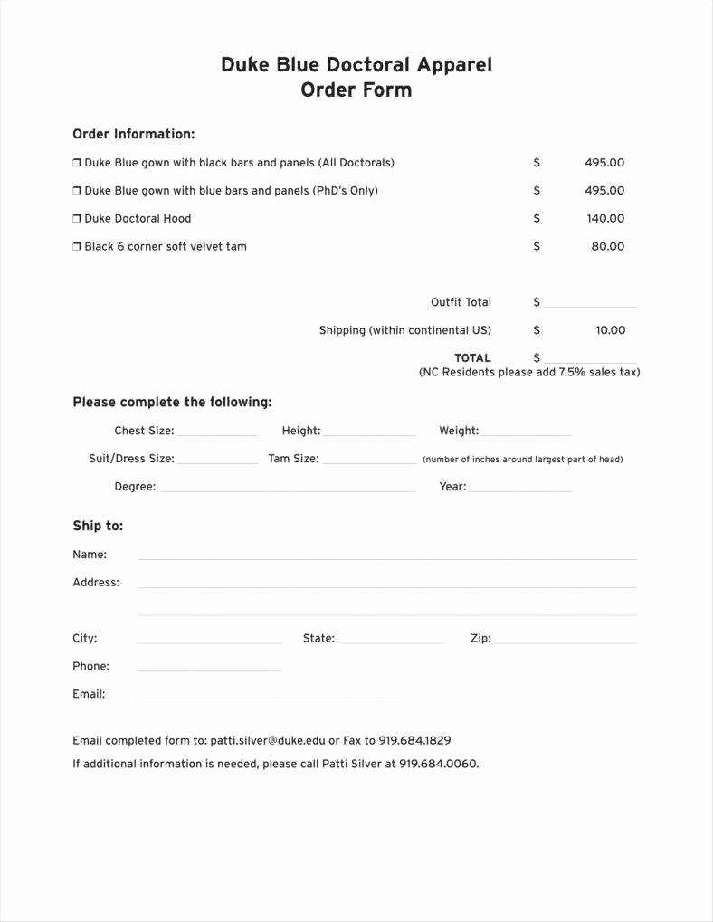 Clothing order forms Templates Elegant 9 Apparel order form Templates No Free Word Pdf Excel
