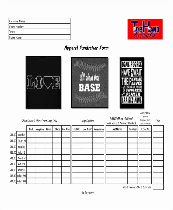 Clothing order forms Templates Fresh 12 Apparel order forms Free Sample Example format