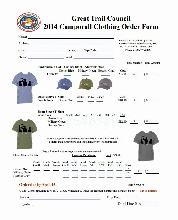Clothing order forms Templates Unique order form Template – 27 Free Word Excel Pdf Documents