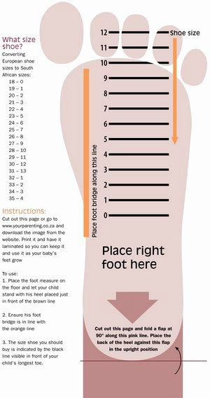 Clothing Size Chart Template Beautiful Use This Handy Chart to Measure What Shoe Size Your Little