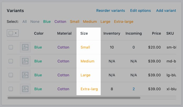 Clothing Size Chart Template Elegant Add A Size Chart Products Customizing themes themes