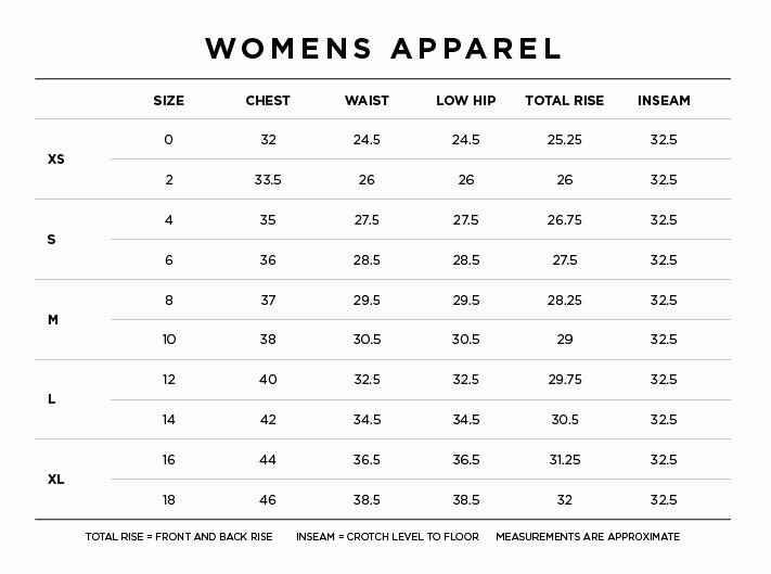 Clothing Size Chart Template Inspirational Kl Size Charts Apparel