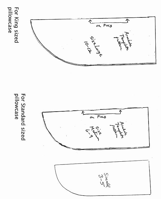 Clothing Size Chart Template Luxury Pillowcase Dress Armhole Templates & Chart for Sizing when