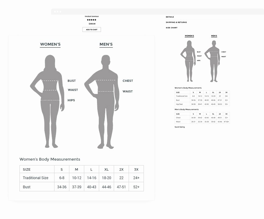 Clothing Size Chart Template New Ella Responsive Fashion Shopify Template Sections Ready