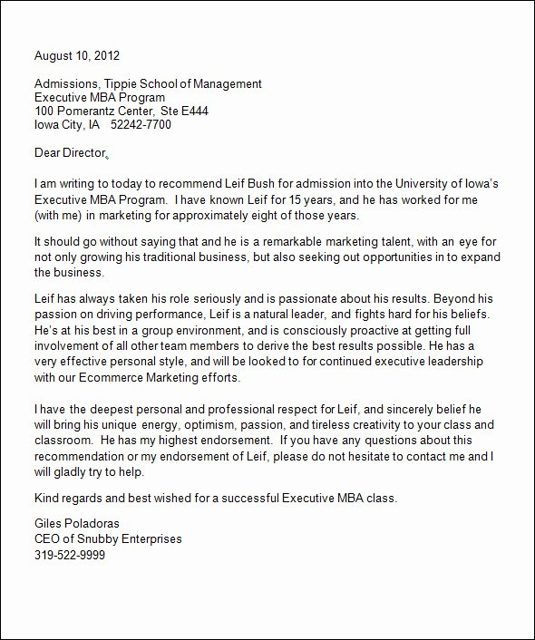 College Admission Recommendation Letter Template Best Of Free 20 College Re Mendation Letters In Pdf