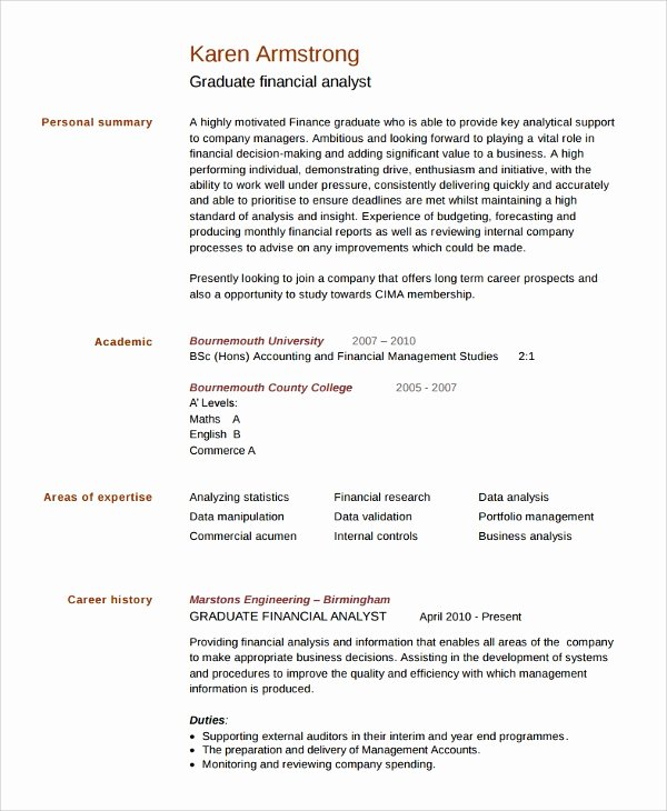 College Graduate Resume Template Best Of Sample College Graduate Resume 8 Free Documents