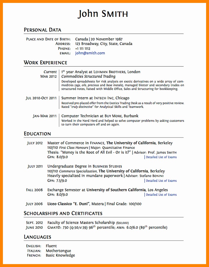 College Graduate Resume Template Inspirational 8 Cv Template for College Students