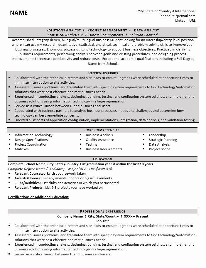 College Graduate Resume Template Unique Graduate School Resume Example 1 Zipjob