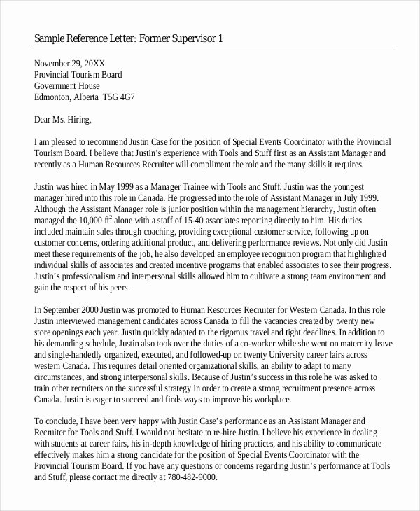 College Recommendation Letter Template Beautiful 6 College Reference Letter Templates Free Sample