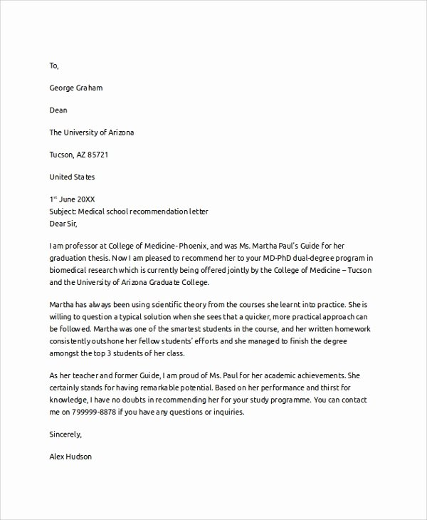 College Recommendation Letter Template Beautiful Letter Of Re Mendation Example 8 Samples In Pdf Word