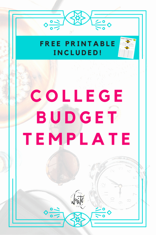 College Student Budget Template Best Of College Bud Template Free Printable for Students