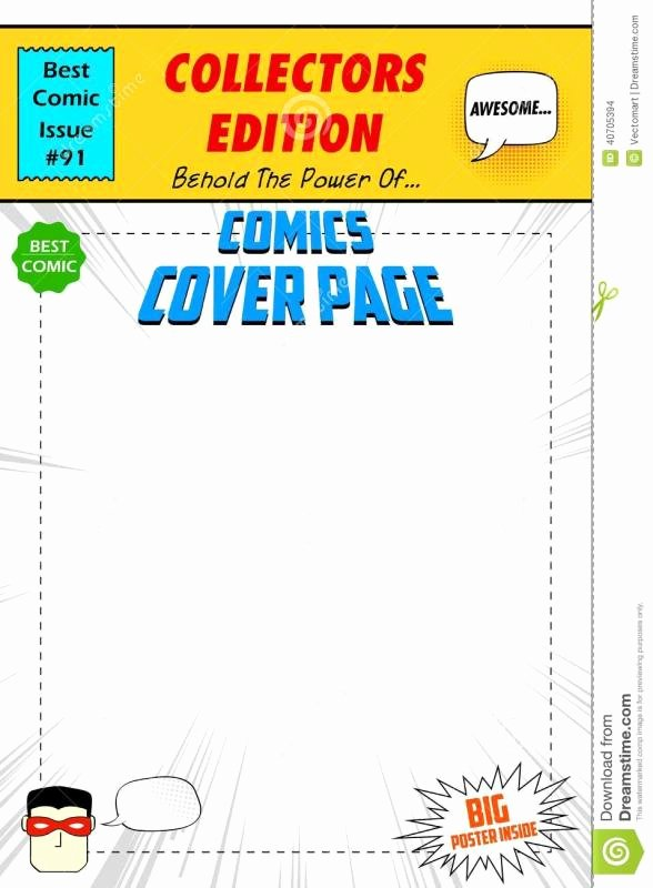 Comic Book Cover Template Awesome Free Printable Id Cards Templates