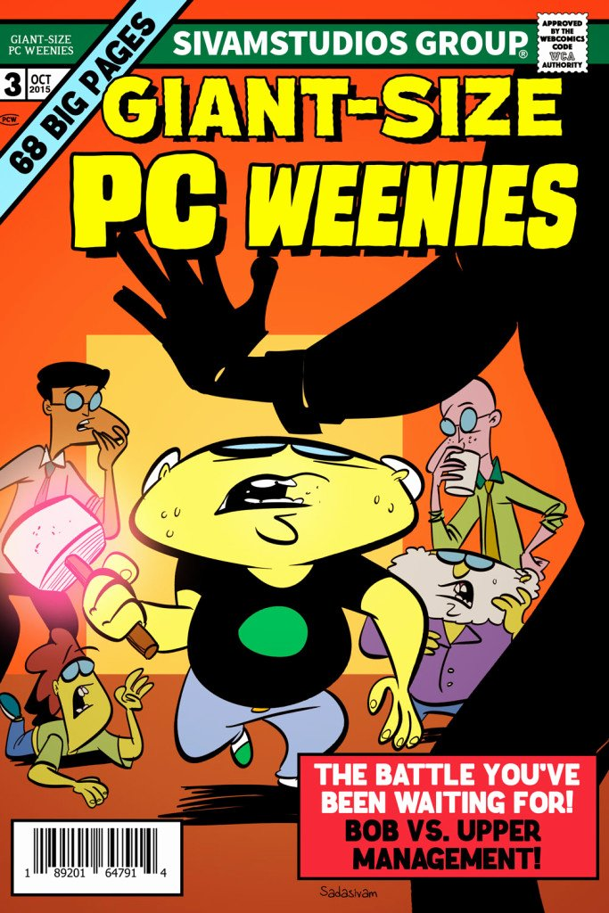 Comic Book Cover Template Awesome Giant Size Pc Weenies Ic Cover 3 – Krishna Draws