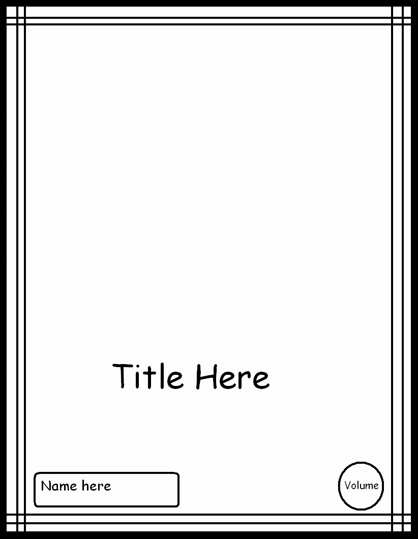 Comic Book Cover Template Awesome Manga Cover Template 3 by Ic Templates On Deviantart