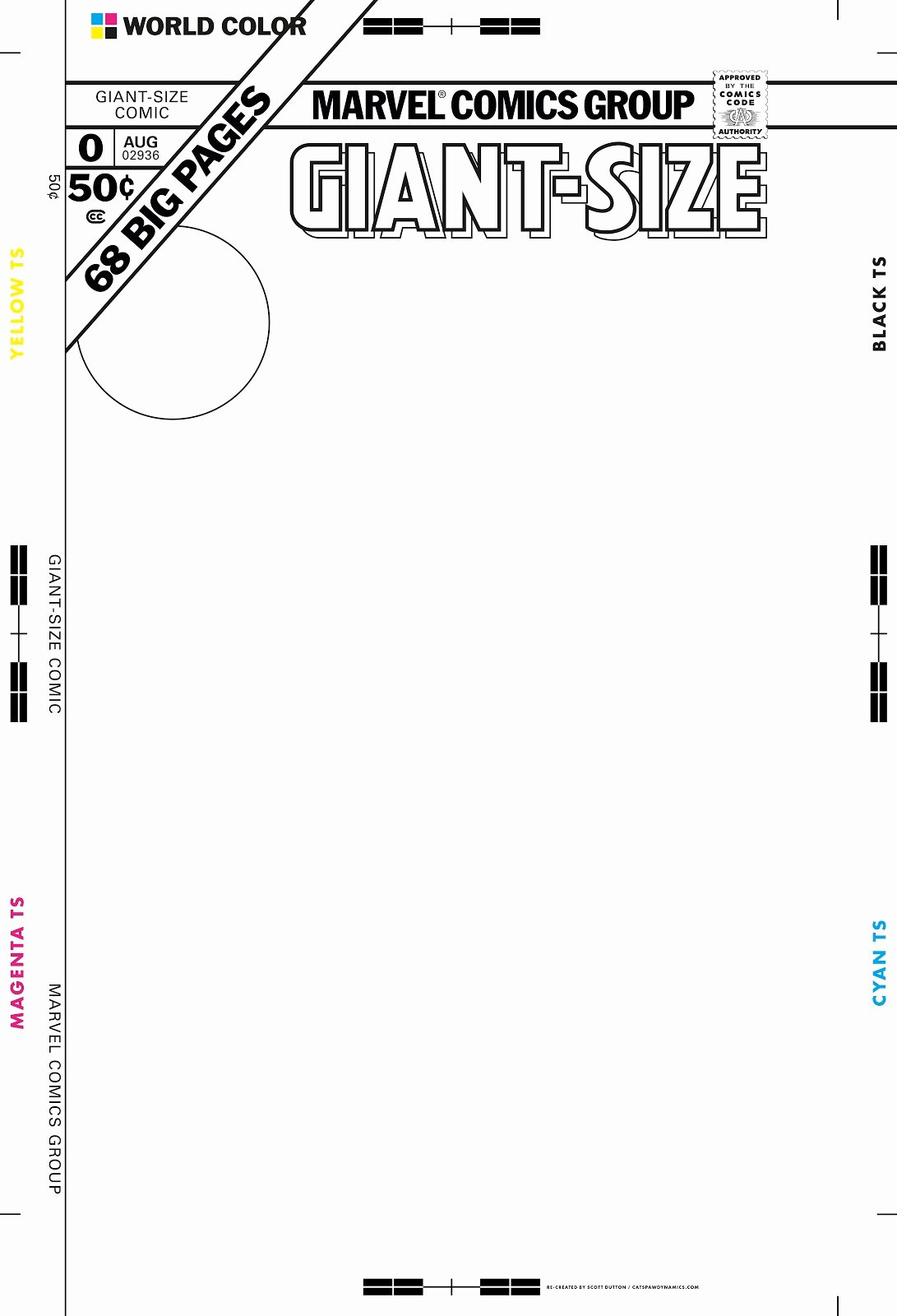 Comic Book Cover Template Beautiful Giant Size Marvel