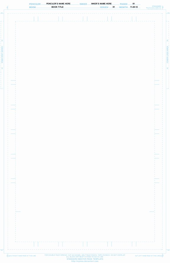 Comic Book Cover Template Best Of Ic Master Page Template by Mykies On Deviantart