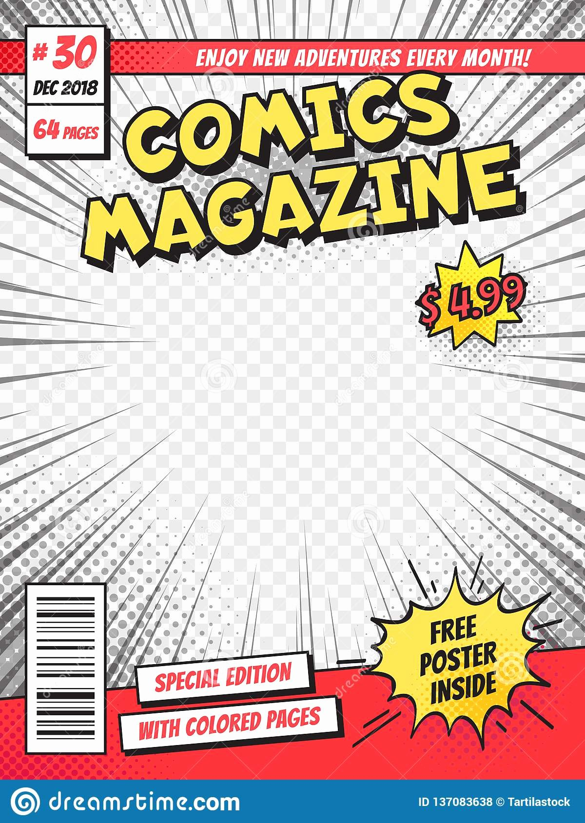 Comic Book Cover Template Fresh Ic Book Cover Ics Books Title Page Funny Superhero