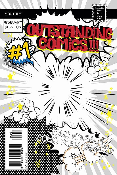 Comic Book Cover Template Fresh Royalty Free Ic Book Clip Art Vector