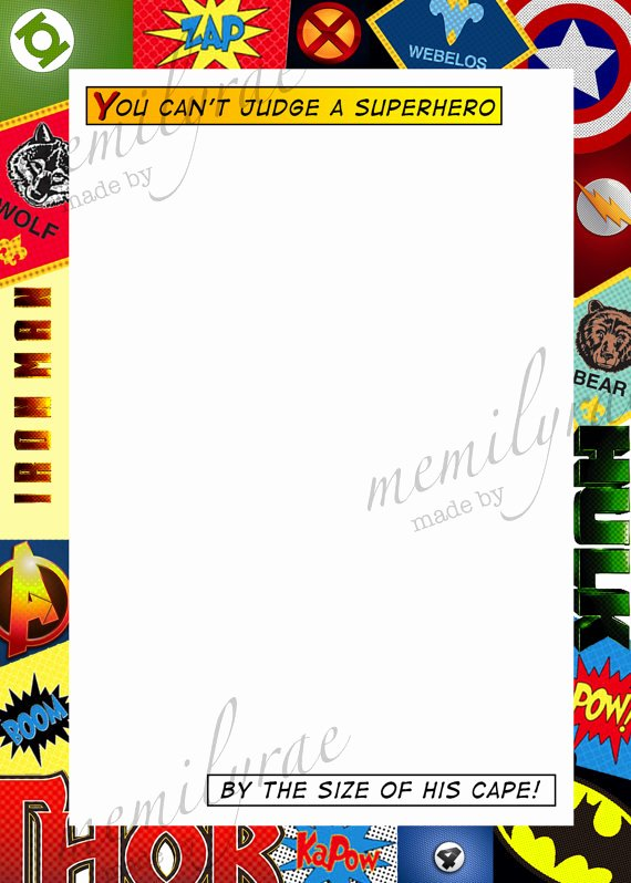 Comic Book Cover Template Inspirational Ic Book Cover Template