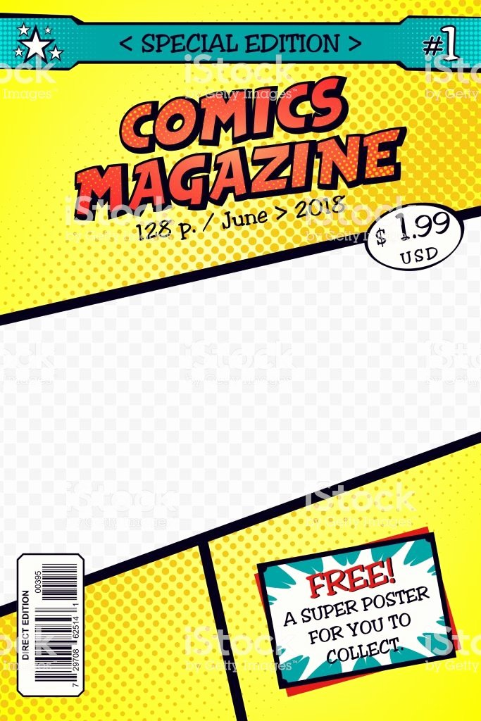Comic Book Cover Template Inspirational Template Ic Book Cover Art Vector Stock Vector Art