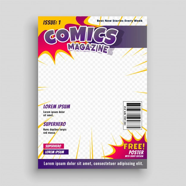 Comic Book Cover Template Lovely Ic Book Vectors S and Psd Files
