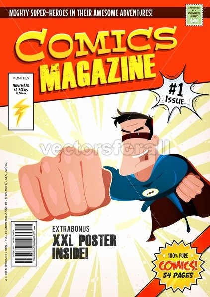 Comic Book Cover Template Lovely Vectorsforall