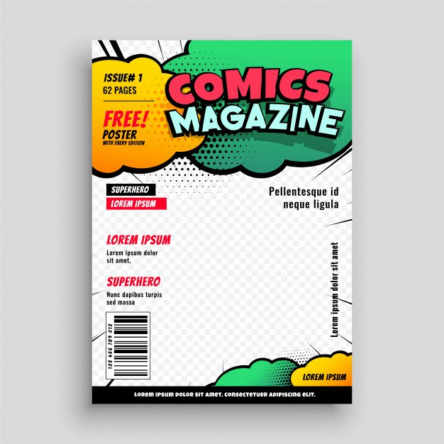 Comic Book Cover Template Luxury Ic Book Cover Page Template Design Vector