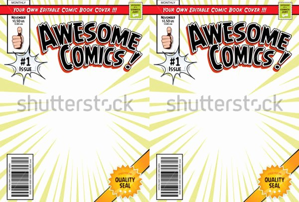 Comic Book Cover Template New 31 Beautiful Book Cover Templates Free Sample Example