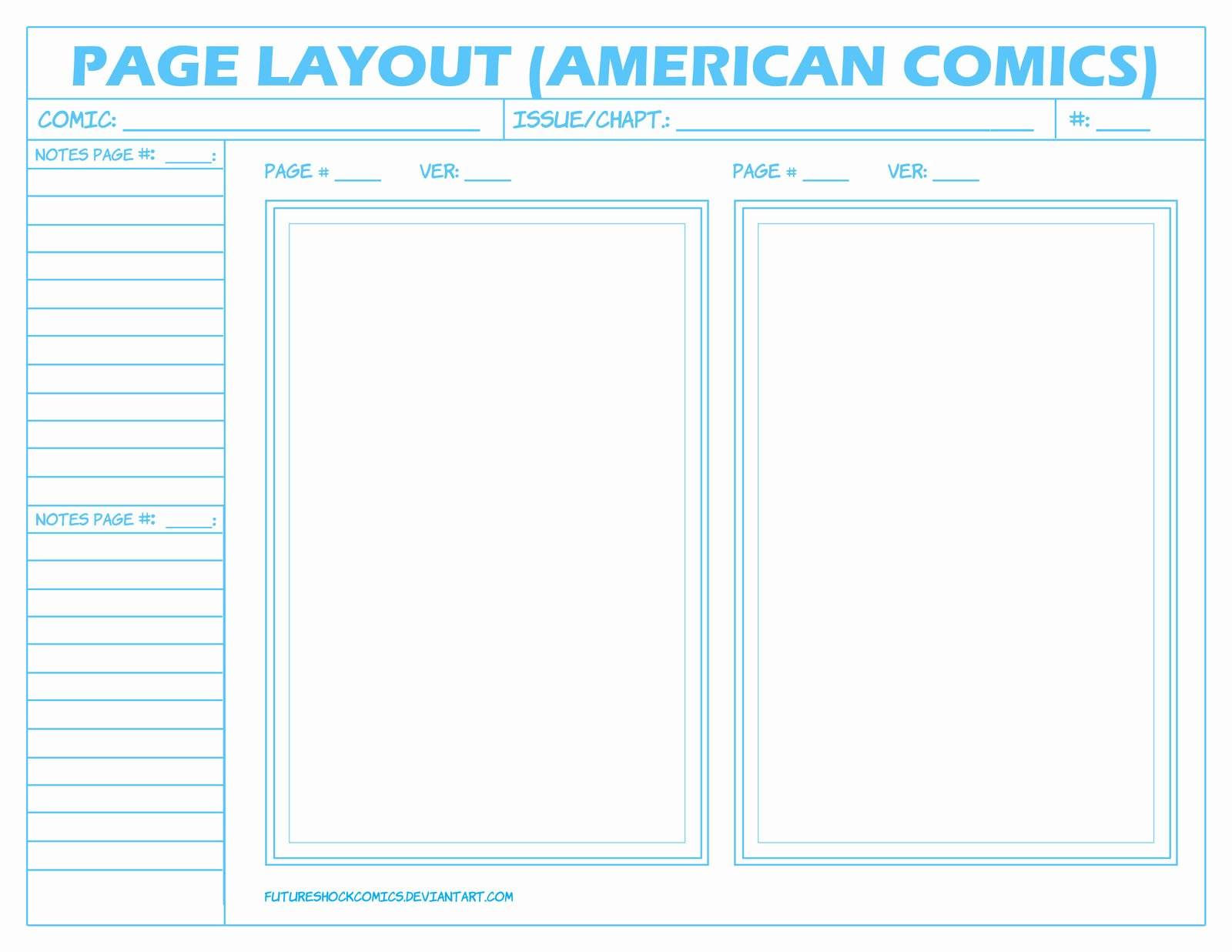 Comic Book Cover Template New Ic Layout Page American by Futureshock Ics On