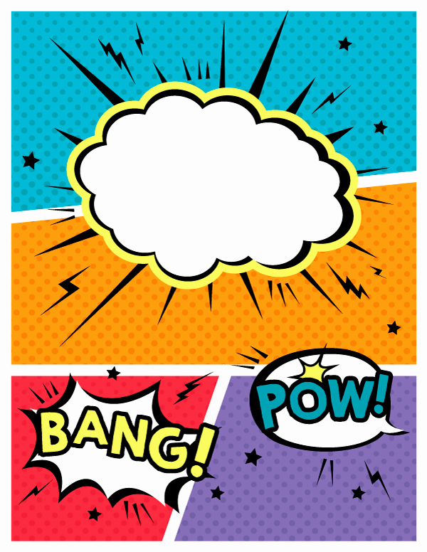 Comic Book Cover Template New Pin by Muse Printables On Binder Covers at Bindercovers