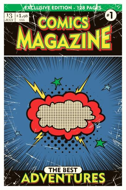 Comic Book Cover Template New top Ic Book Cover Clip Art Vector Graphics and