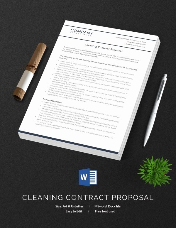 Commercial Cleaning Contract Template Lovely Cleaning Contract Template 27 Word Pdf Documents