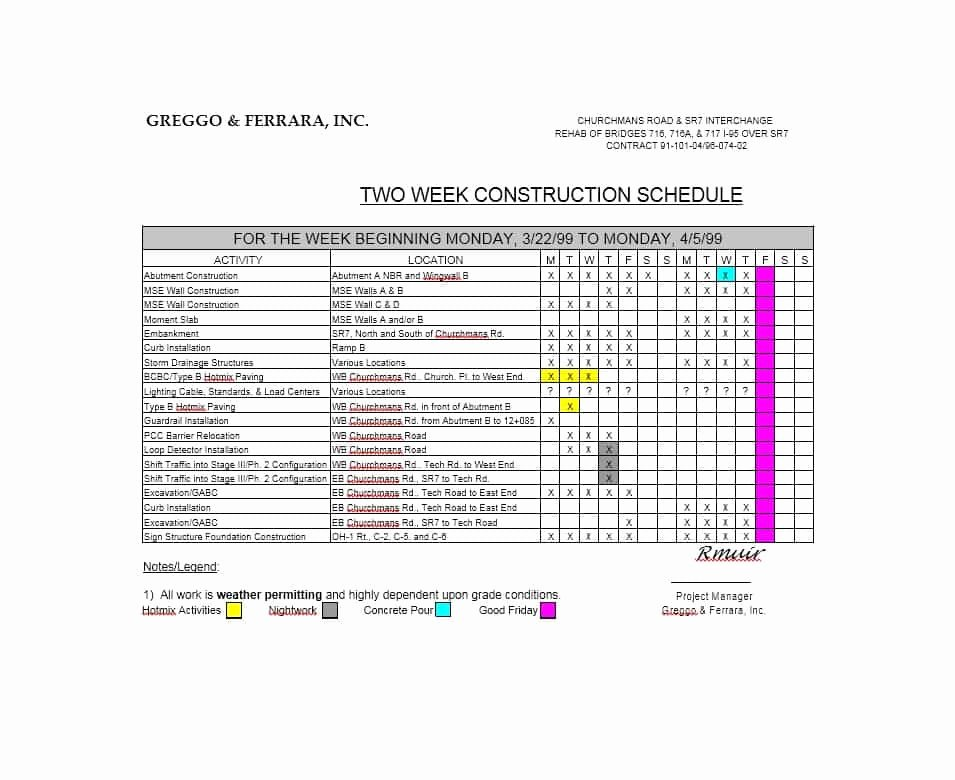 Commercial Construction Schedule Template Awesome 21 Construction Schedule Templates In Word & Excel