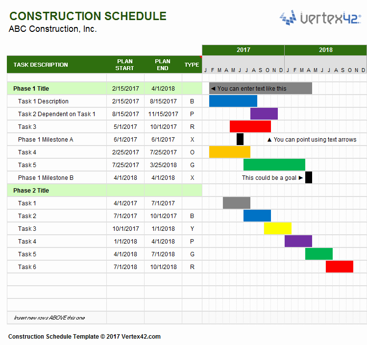 Commercial Construction Schedule Template Awesome Construction Schedule Template