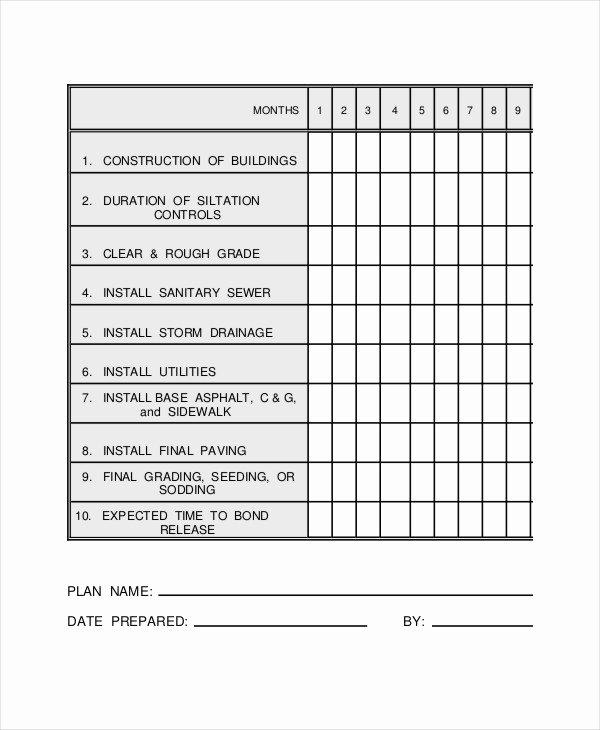 Commercial Construction Schedule Template Best Of Construction Work Schedule Templates 8 Free Word Pdf