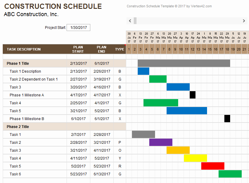 Commercial Construction Schedule Template Lovely Construction Schedule Template