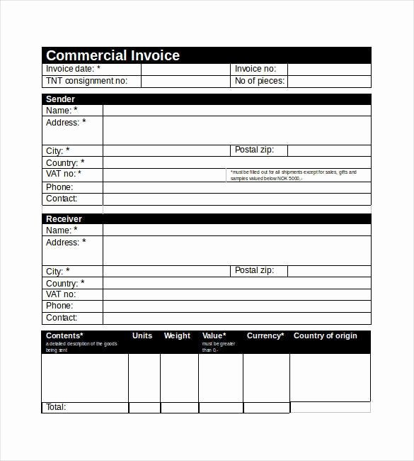 Commercial Invoice Template Excel Awesome 36 Mercial Invoice Templates Word Excel Pdf Ai