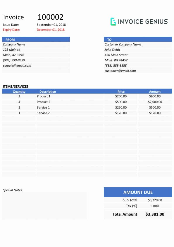 Commercial Invoice Template Excel Inspirational Free Invoice Templates