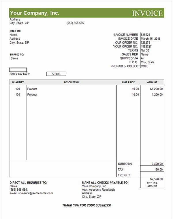 Commercial Invoice Template Excel Lovely Mercial Invoice Template