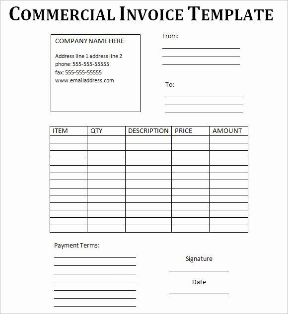 Commercial Invoice Template Word Unique Mercial Invoice Template – 14 Free Word Pdf format