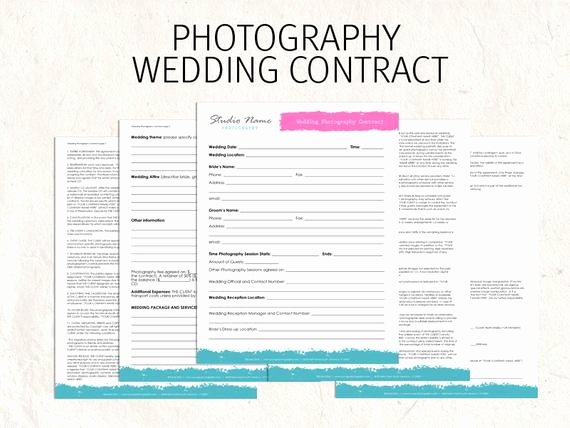 Commercial Photography Contract Template Beautiful Wedding Graphy Contract Business forms Flowers