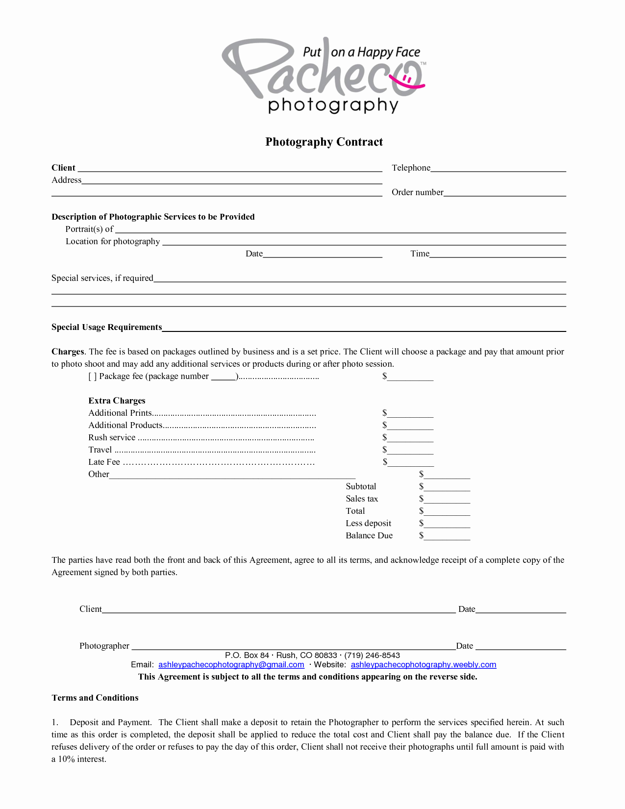 Commercial Photography Contract Template New Portrait Graphy Contract – Emmamcintyrephotography